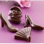 akcesoria kobiece z czekolady